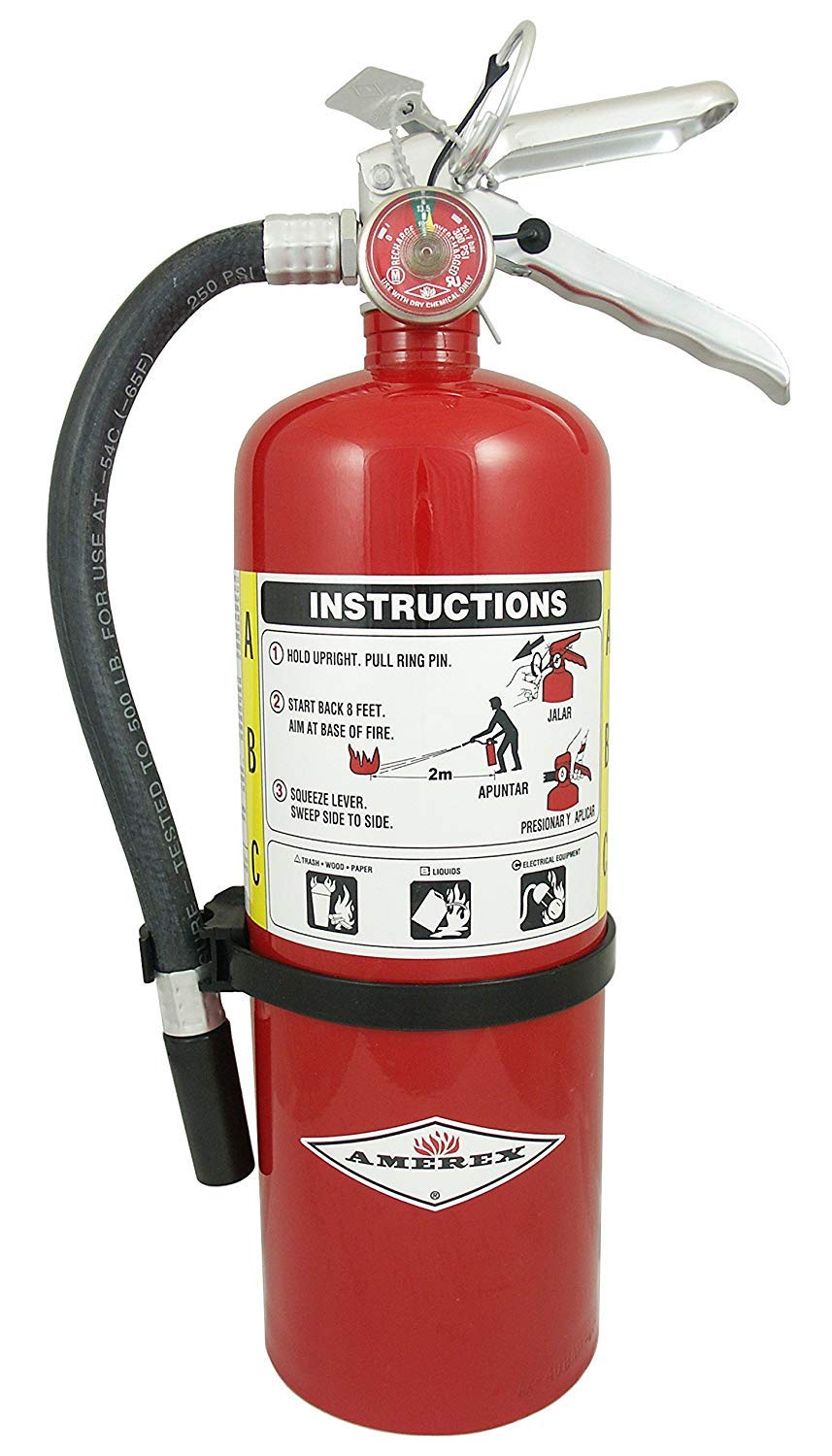 ABC Dry Chemical Class A B C Fire Extinguisher from Amerex