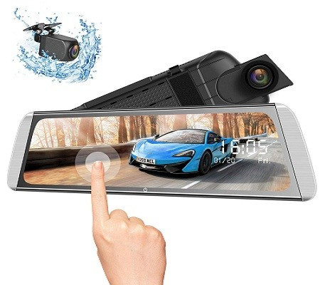 Campark R10 Advanced Backup Camera with Travelapse 24H's Parking Monitor and GPS