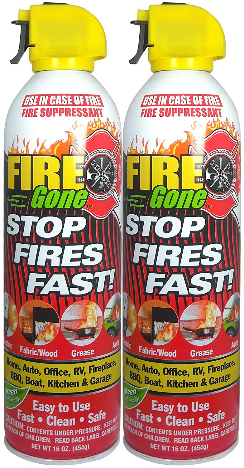 Fire Gone 2NBFG2704 Whit or Red Fire Suppressant