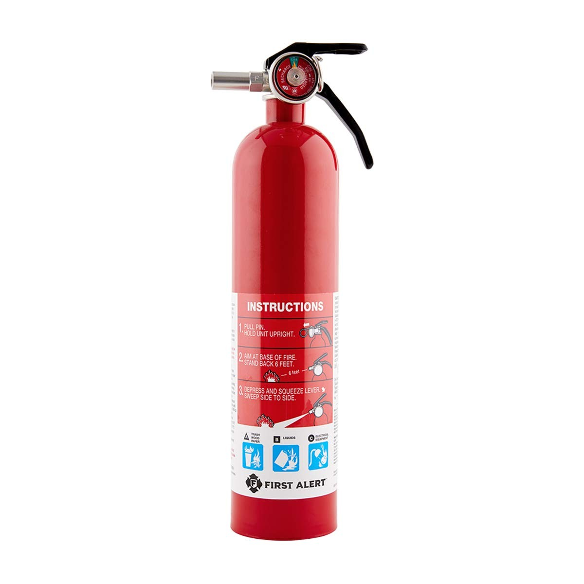 First Alert Rechargeable Home Fire Extinguisher Red
