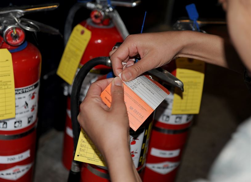 Maintenance of Your RV's Fire Extinguisher