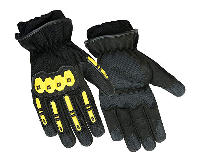 Hugger Glove Company Precinct One Fire Resistant Leather Extrication Hard Knuckle Protective Glove