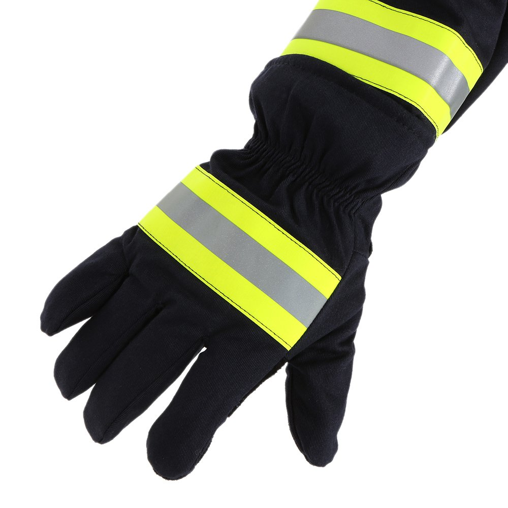 KKmoon Fire Protective Gloves with Reflective Strap