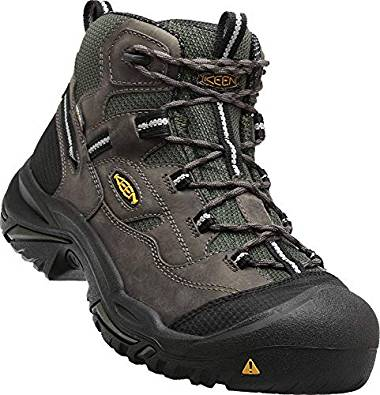 Keen Utility - Men's Braddock All Leather Mid Waterproof (Steel Toe) Work Boots