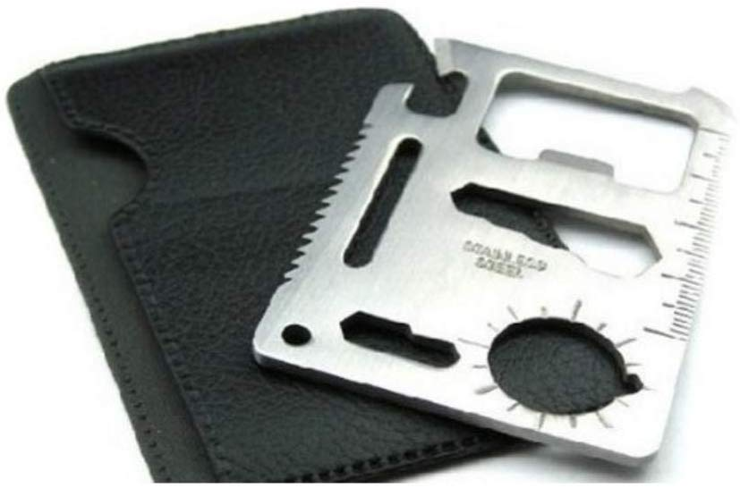 OldPhatVet 11 in 1 Multifunction Credit Card Survival Knife Camping Tool