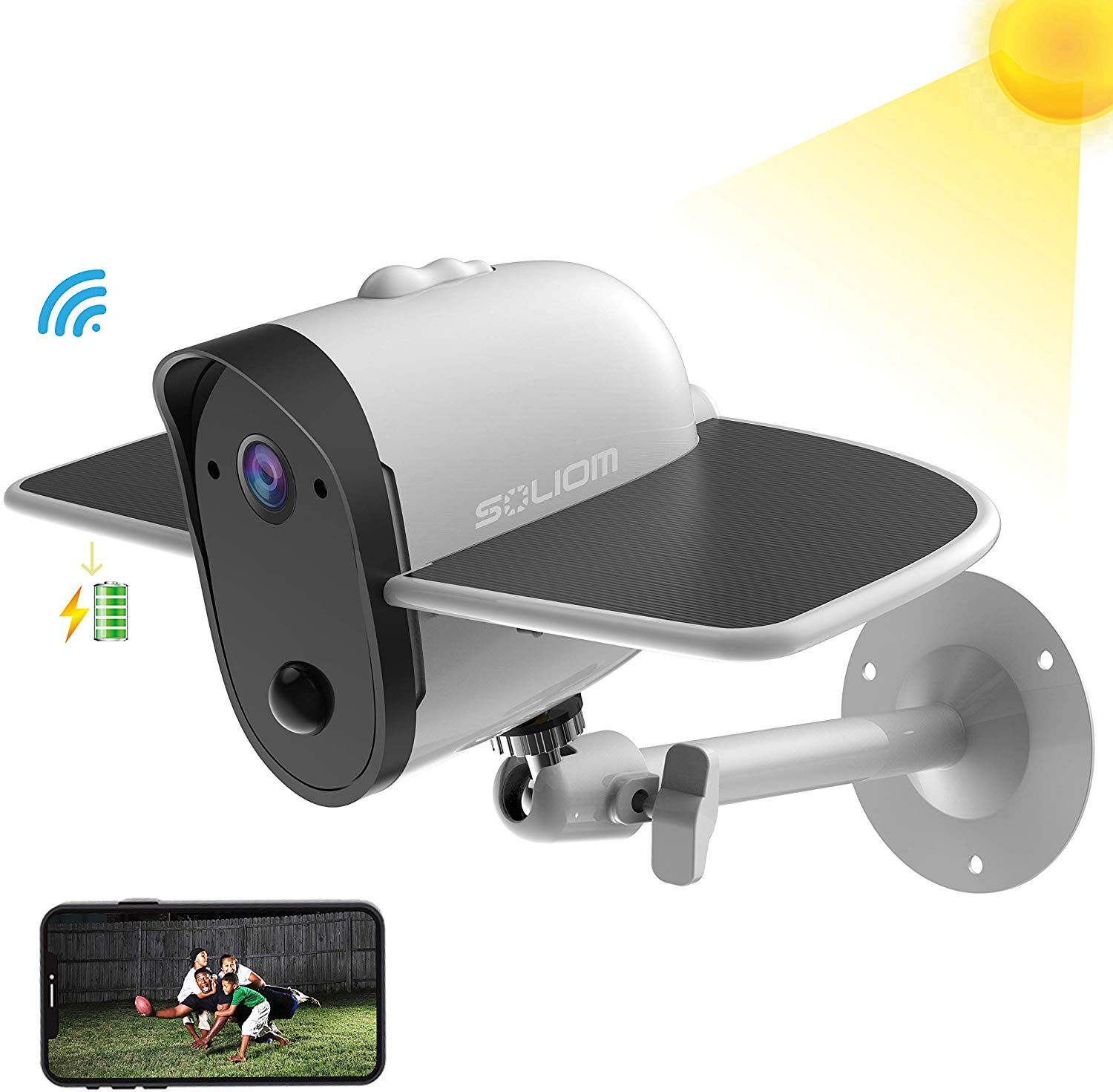 SOLIOM S60 Outdoor Solar Battery Powered Security Camera