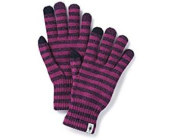 Smartwool Unisex Striped Liner Glove - Merino Wool Touch Screen Compatible Glove for Men and Women