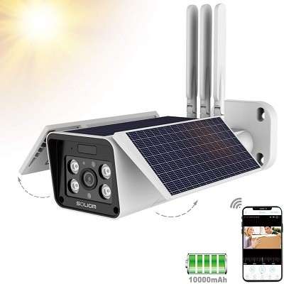 Soliom S90 Pro Outdoor Home Security Solar Battery Camera
