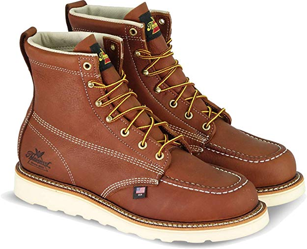 "Thorogood Men's American Heritage 6"" Moc Toe, MAXwear Wedge Safety Toe Boot"