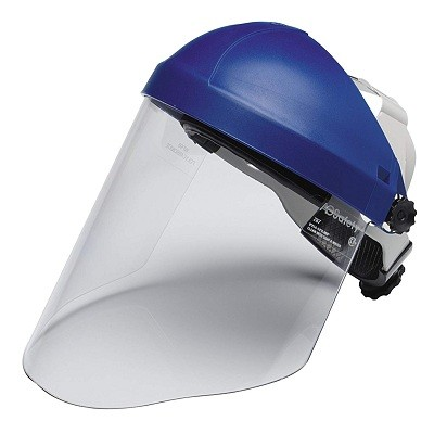 3M Ratchet Headgear H8A 82783-00000, with 3M Clear Polycarbonate Faceshield WP96