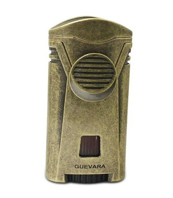 GUEVARA Cigar Lighter Torch with Cigar Stand Windproof Single Flame Butane Refillable High Quality Scorch Lighters