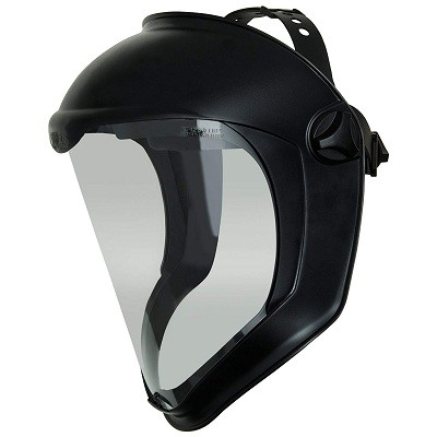 Honeywell S8510, Uvex Bionic Face Shield with Clear Polycarbonate Visor and Anti-Fog/Hard Coat