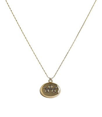 Invisawear Smart Jewelry Gold Necklace - Personal Safety Device