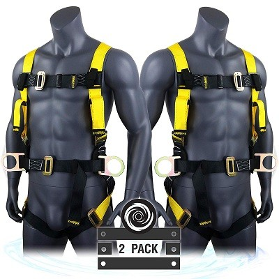 KwikSafety (Charlotte, NC) 2 PACK HURRICANE | OSHA ANSI Fall Protection Full Body Safety Harness