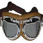 CRG Sports T08 Vintage Aviator Pilot Style Motorcycle Cruiser Scooter Goggle