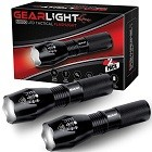 GearLight LED Tactical Flashlight S1000 [2 PACK]