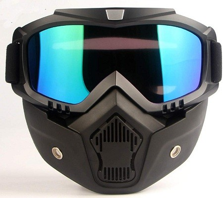 MOCHOEL Motorcycle Goggles Mask, Tactical Glasses for Outdoor - Anti-Fog Windproof UV400 Safety Protection