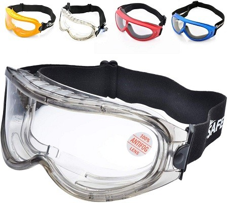 SAFEYEAR SG007 Anti Fog Safety Goggles - HD Scratch Resistant Safety Glasses Lens for Men and Women