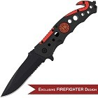 Swiss Safe 3-in-1 Fire & Rescue Tactical Knife for Firefighters