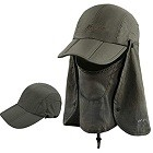 ICOLOR Sun Cap Fishing Hats with Face Masks Outdoor Sun Protection Visor Caps