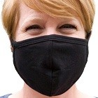 Buttonsmith Black Adult Cotton Face Mask - Made in USA