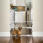 Carlson 0618 DS Small Tuffy Expandable Pet Gate with Small Pet Door