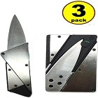 JJMG The 3rd Generation Credit Card Knife, Stainless Steel Cover Folding Safety Knife Silver