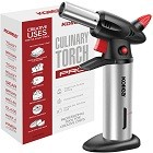 Kollea Blow Kitchen Torch Refillable Chef Cooking Culinary Torch Lighter