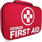 Swiss Safe 2-in-1 First Aid Kit (120 Piece) Mini First Aid Kit: Compact & Lightweight